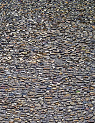 brick rounded pebbles floor ground cobble