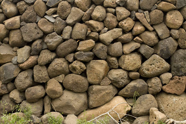 cobble brick stones stack heap
