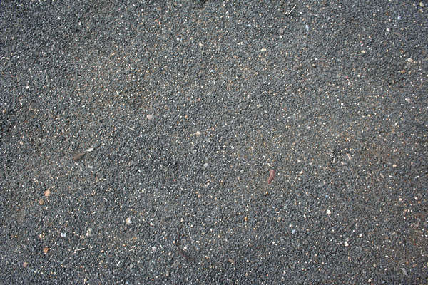pebbles asphalt ground