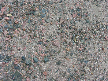 sand ground pebbles