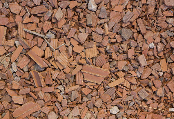 ground morocco rooftiles broken gravel