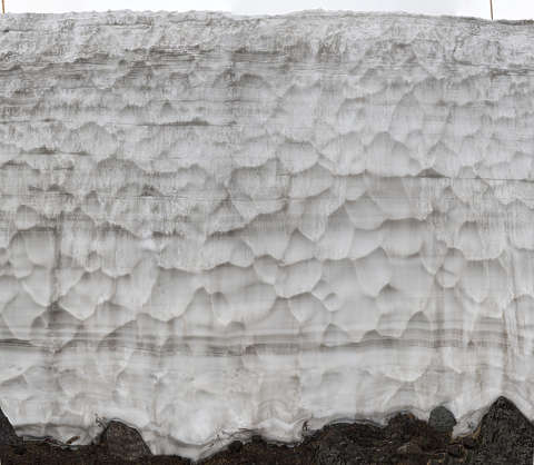 snow wall ice dirty winter frozen cold