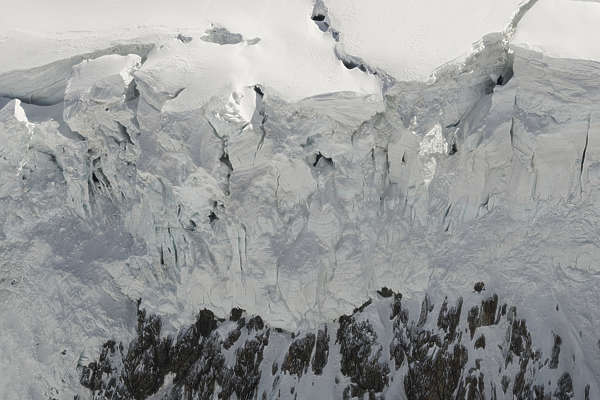 snow glacier ice mountain crevice crevices snowy cliff cliffs
