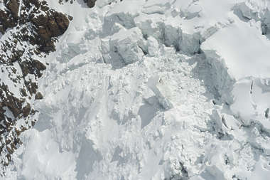 snow glacier ice mountain crevice crevies snowy cliff cliffs