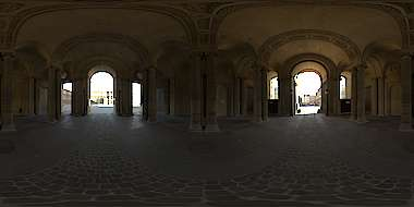 Panorama HDR HDRi lightprobe panoramic high dynamic range spherical 360 indoor interior renaissance palace arches ornate