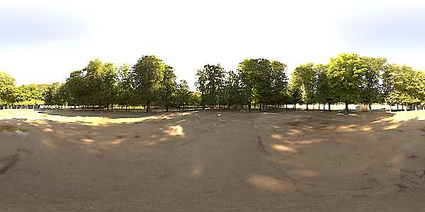 Hdr Panorama 004 Park With Trees Hdri Light Probe