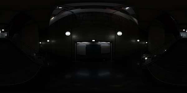 Hdr Panorama 015 Subway Station Hallway Hdri Light Probe