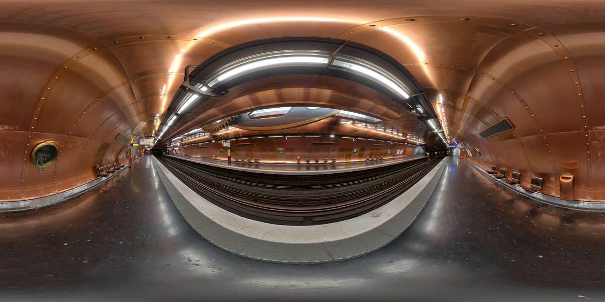 Hdr Panorama 018 Steampunk Subway Station Hdri Light Probe