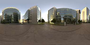 Panorama HDR HDRi lightprobe panoramic high dynamic range spherical 360 outdoor outside natural light office offices buildings