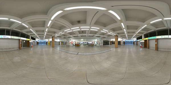 Hdr Panorama 022 Trainstation Hallway Hdri Light Probe