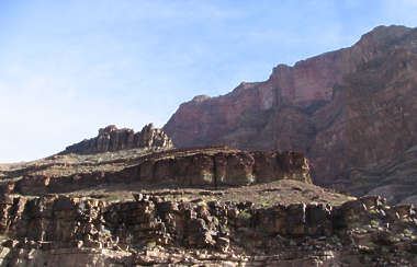 landscape background grand canyon cliff rock