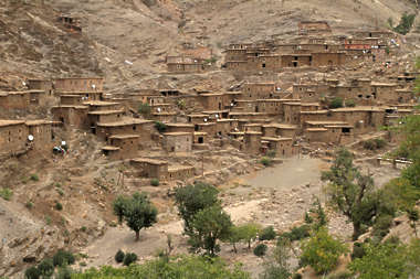 landscape desert village morocco background