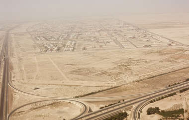 desert landscape city dubai background