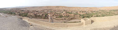 morocco landscape panorama background dry arid village