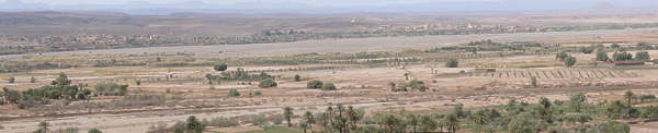 morocco landscape panorama background valley trees palmtrees dry arid