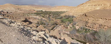 morocco landscape panorama background valley dry arid