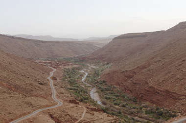 morocco landscape panorama background valley oasis river dry arid canyon