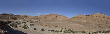 morocco landscape panorama background hills dry arid