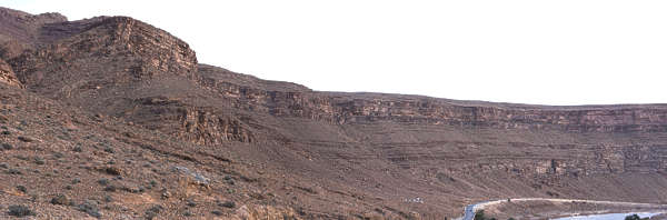 morocco landscape panorama background canyon gorge dry arid rock formation