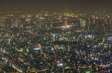 texture aerial city buildings landscape background night dark skyline metropolis Tokyo Japan location:skytree