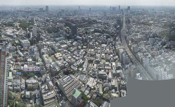 japan tokyo aerial location:Mori building city landscape background cityscape metropolis buildings