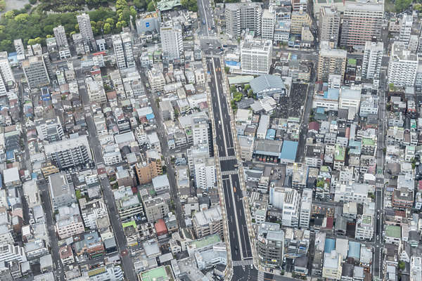 aerial city buildings landscape background japan location:skytree