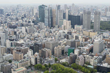 aerial city buildings landscape skyline background japan location:tokyo tower