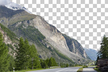 landscape mountains mountain background masked tree trees road cliff
