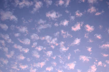 sky clouds pink fluffy
