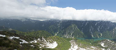 landscape panorama mountain hills hill lake japan valley