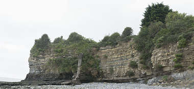 landscape beach cliffs coast UK