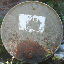 oil drum top barrel rusted dirty