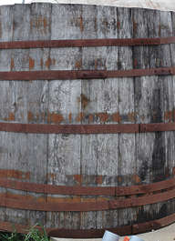 wood planks old barrel metal rust