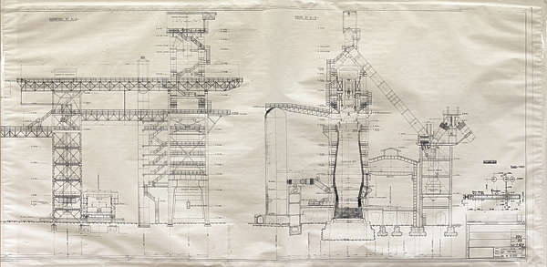 schematic smelter blueprint industrial plant