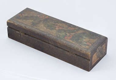 wood wooden box small crate container ornate old