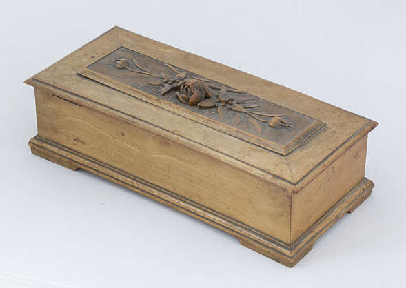 wood wooden box small crate container ornate