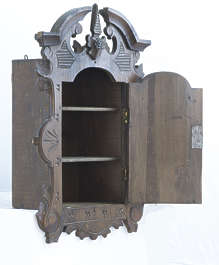 cabinet vintage ornate old wooden