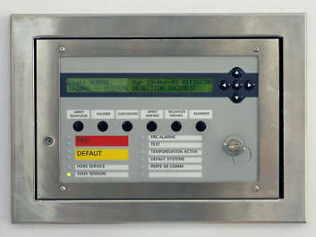 panel control buttons lcd display fire