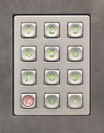 buttons keypad numbers