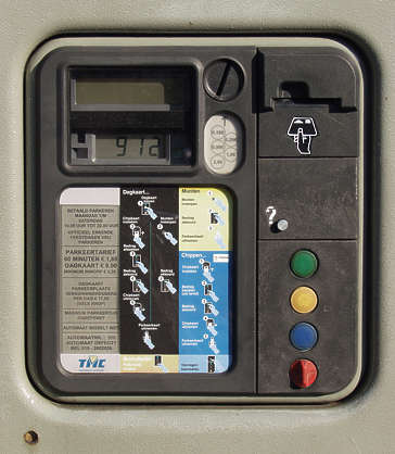 button machine parking meter instruction dial