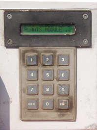 button machine keypad display