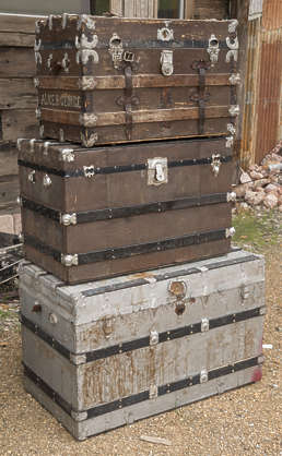 USA nelson ghost town ghosttown suitcases cargo luggage crate old