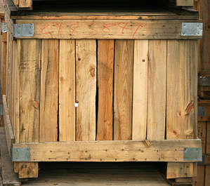 crate crates box wood planks cargo