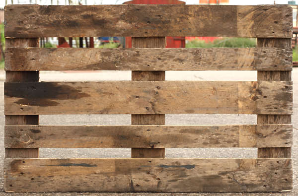wood pallet planks plank side top front cargo
