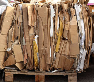 paper cardboard recycling compressed cargo