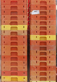 stack plastic boxes fishing fish cargo