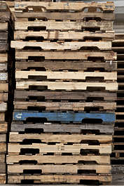 wood pallets stack cargo
