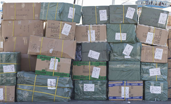 saudi arabia dubai middle east cardboard boxes box stack cargo