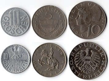 coin coins money austria schilling