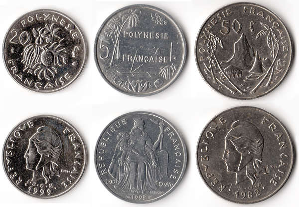 coin coins money french polynesia